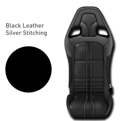 Lotus Elise - Black Leather with Silver Stitching