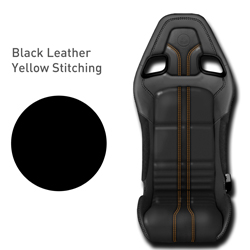 Lotus Elise - Black Leather with Yellow Stitching