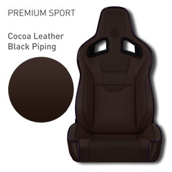 Lotus Elise - Cocoa Brown Leather with Black Piping
