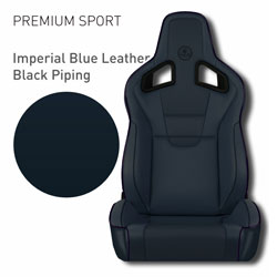 Lotus Elise - Imperial Blue Leather with Black Piping